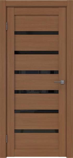 Межкомнатная дверь RM002 (экошпон «орех FL», лакобель черный)
