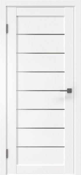 Межкомнатная дверь RM003 (экошпон белый, матовое стекло)