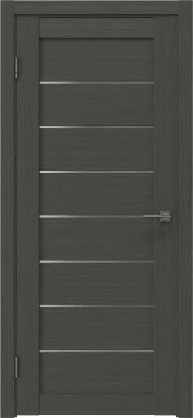 Межкомнатная дверь RM003 (экошпон «грей» / матовое стекло)