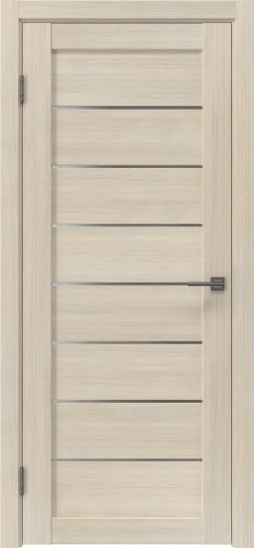 Межкомнатная дверь RM003 (экошпон «капучино» / матовое стекло)