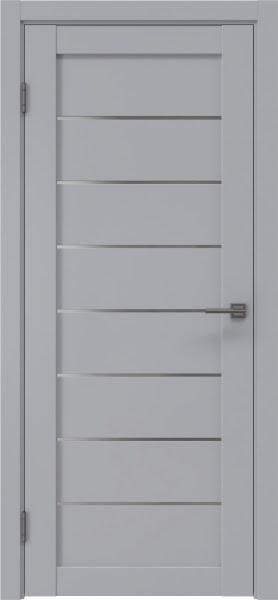 Межкомнатная дверь RM003 (экошпон серый / матовое стекло)