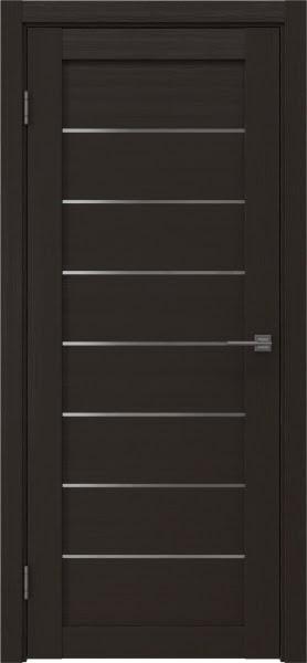 Межкомнатная дверь RM003 (экошпон «венге» / матовое стекло)