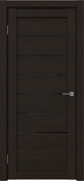 Межкомнатная дверь RM003 (экошпон «венге FL», лакобель черный)