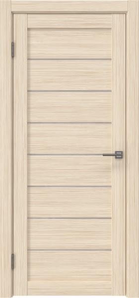Межкомнатная дверь RM003 (экошпон «беленый дуб FL», лакобель белый)