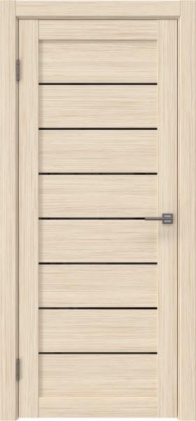 Межкомнатная дверь RM003 (экошпон «беленый дуб FL», лакобель черный)