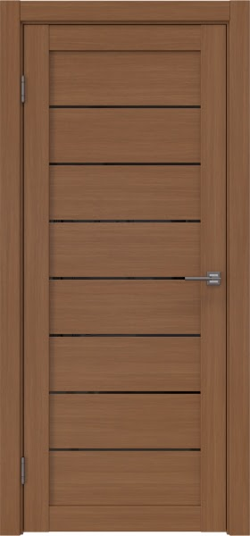 Межкомнатная дверь RM003 (экошпон «орех FL», лакобель черный)