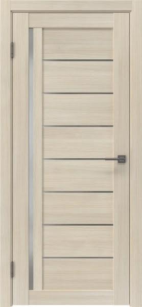 Межкомнатная дверь RM004 (экошпон «капучино» / матовое стекло)