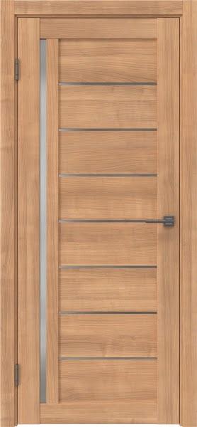 Межкомнатная дверь RM004 (экошпон «миндаль» / матовое стекло)