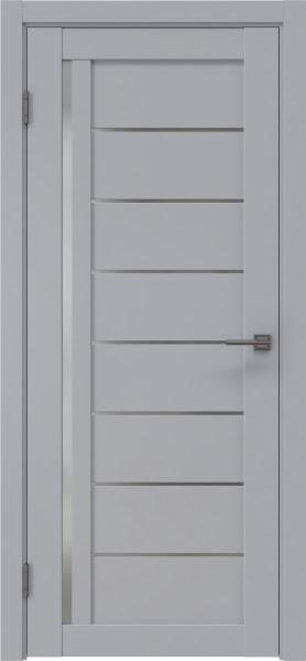 Межкомнатная дверь RM004 (экошпон серый / матовое стекло)