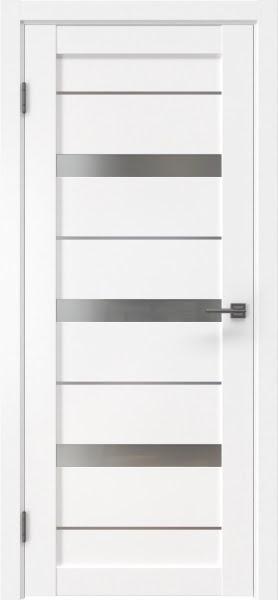 Межкомнатная дверь RM005 (экошпон белый / матовое стекло)
