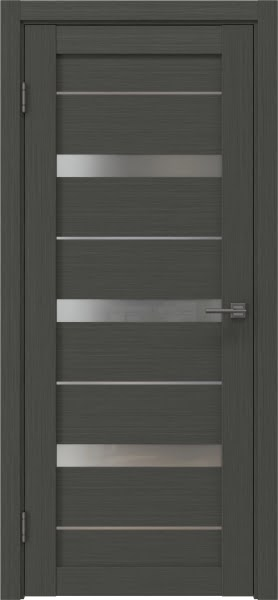 Межкомнатная дверь RM005 (экошпон «грей» / матовое стекло)