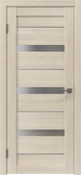 Межкомнатная дверь RM005 (экошпон «капучино» / матовое стекло)