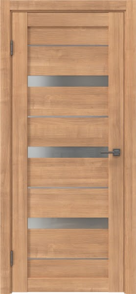 Межкомнатная дверь RM005 (экошпон «миндаль» / матовое стекло)