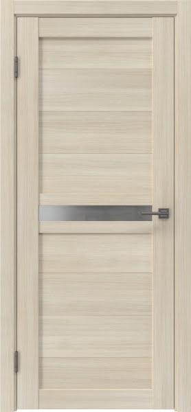 Межкомнатная дверь RM006 (экошпон «капучино» / матовое стекло)