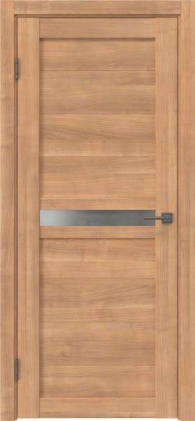 Межкомнатная дверь RM006 (экошпон «миндаль» / матовое стекло)