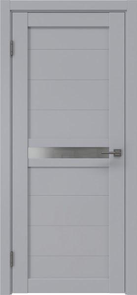 Межкомнатная дверь RM006 (экошпон серый / матовое стекло)