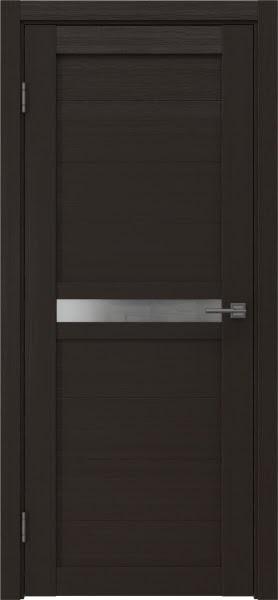 Межкомнатная дверь RM006 (экошпон «венге» / матовое стекло)