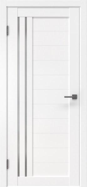 Межкомнатная дверь RM007 (экошпон белый / матовое стекло)