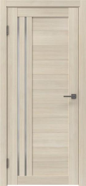Межкомнатная дверь RM007 (экошпон «капучино» / матовое стекло)