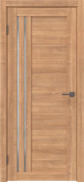 Межкомнатная дверь RM007 (экошпон «миндаль» / матовое стекло)