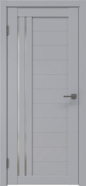Межкомнатная дверь RM007 (экошпон серый / матовое стекло)