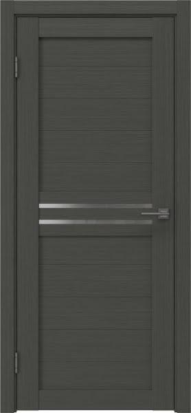 Межкомнатная дверь RM008 (экошпон «грей» / матовое стекло)