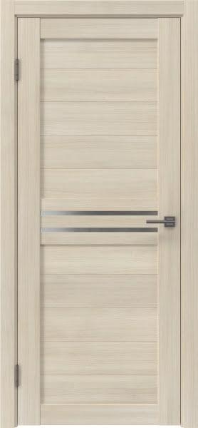 Межкомнатная дверь RM008 (экошпон «капучино» / матовое стекло)