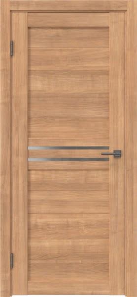 Межкомнатная дверь RM008 (экошпон «миндаль» / матовое стекло)