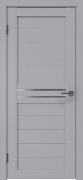 Межкомнатная дверь RM008 (экошпон серый / матовое стекло)