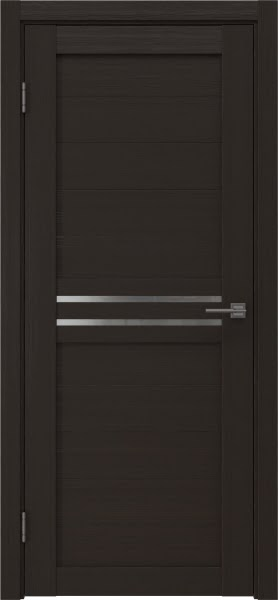 Межкомнатная дверь RM008 (экошпон «венге» / матовое стекло)