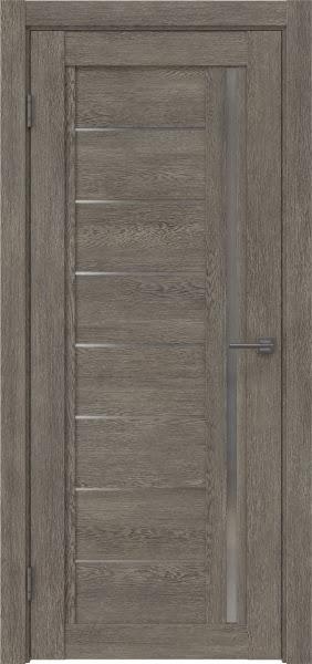Межкомнатная дверь RM009 (экошпон «серый дуб» / матовое стекло)