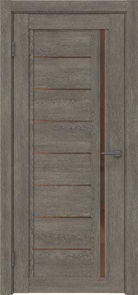 Межкомнатная дверь RM009 (экошпон «серый дуб» / стекло бронзовое)