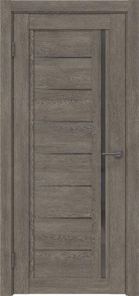 Межкомнатная дверь RM009 (экошпон «серый дуб» / стекло графит)