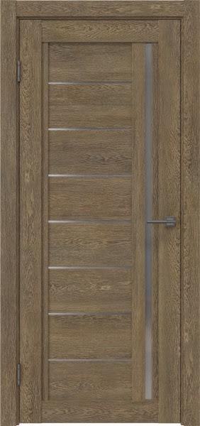 Межкомнатная дверь RM009 (экошпон «дуб антик» / матовое стекло)