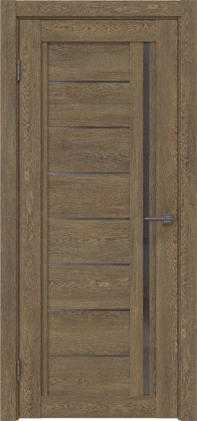 Межкомнатная дверь RM009 (экошпон «дуб антик» / стекло графит)