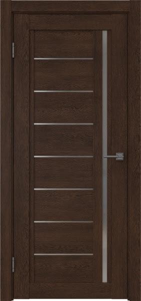 Межкомнатная дверь RM009 (экошпон «дуб шоколад» / матовое стекло)