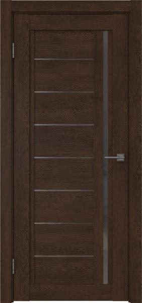 Межкомнатная дверь RM009 (экошпон «дуб шоколад» / стекло графит)