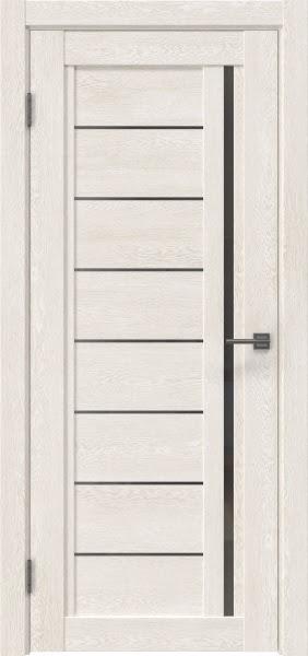 Межкомнатная дверь RM009 (экошпон «белый дуб» / стекло графит)