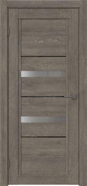 Межкомнатная дверь RM010 (экошпон «серый дуб» / матовое стекло)