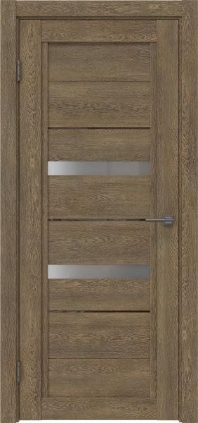 Межкомнатная дверь RM010 (экошпон «дуб антик» / матовое стекло)