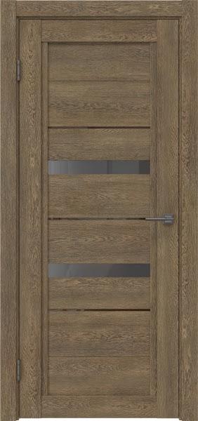 Межкомнатная дверь RM010 (экошпон «дуб антик» / стекло графит)