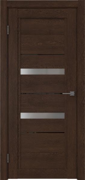 Межкомнатная дверь RM010 (экошпон «дуб шоколад» / матовое стекло)