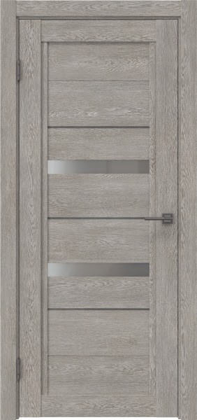 Межкомнатная дверь RM010 (экошпон «дымчатый дуб» / матовое стекло)