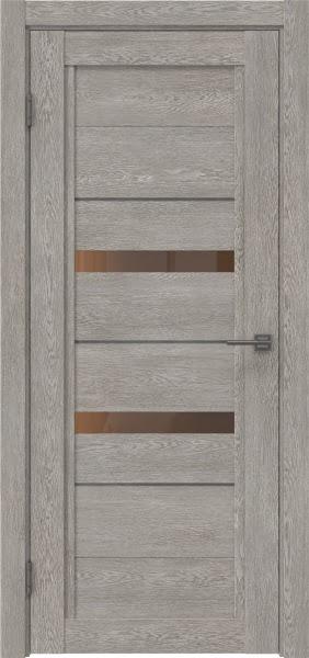 Межкомнатная дверь RM010 (экошпон «дымчатый дуб» / стекло бронзовое)