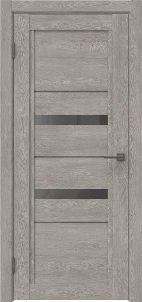 Межкомнатная дверь RM010 (экошпон «дымчатый дуб» / стекло графит)