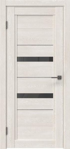 Межкомнатная дверь RM010 (экошпон «белый дуб» / стекло графит)
