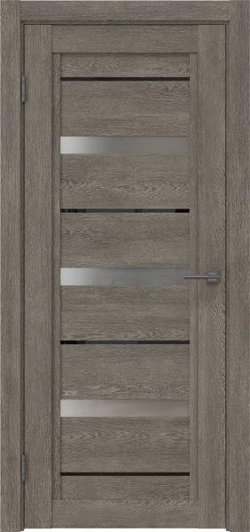 Межкомнатная дверь RM011 (экошпон «серый дуб» / матовое стекло)