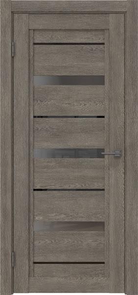 Межкомнатная дверь RM011 (экошпон «серый дуб» / стекло графит)