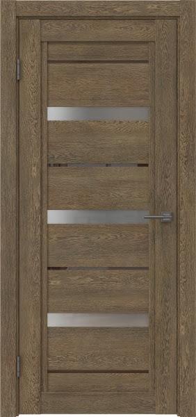 Межкомнатная дверь RM011 (экошпон «дуб антик» / матовое стекло)