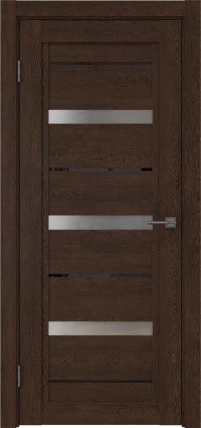 Межкомнатная дверь RM011 (экошпон «дуб шоколад» / матовое стекло)
